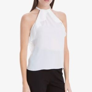 Max Studio London Ruffled Halter Top